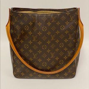 LG Louis Vuitton Monogram Looping GM bag Great EUC